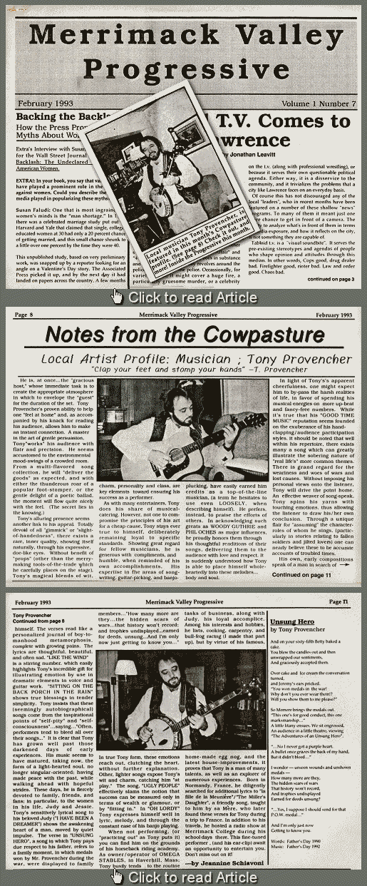 Tony's Merrimack Valley Progressive Article - Feb 1993